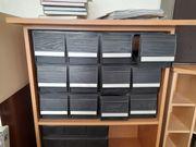 CD Regal inklusive Aufbewahrungsboxen