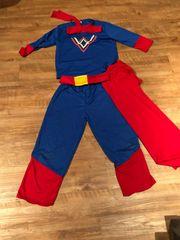Superman Karnevalskostüm Kinder Größe M