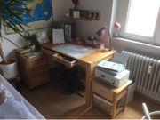 Schreibtisch mit Container mehr Eiche