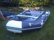 Traum-Motor-Segel-Ruder-Schlauchboot TOP Komplett-Ausstattung