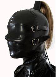 BDSM Latex Kopfmaske NEU