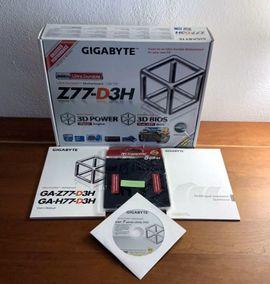 GIGABYTE GA-Z77-D3H Mainboard Incl 8: Kleinanzeigen aus Thale - Rubrik Mainboards, CPUs, Speicher