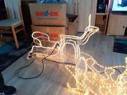 Rentier mit Schlitten Weihnachts Advents