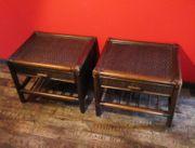 Bambus Nachttisch Beistelltisch Kommode Schrank