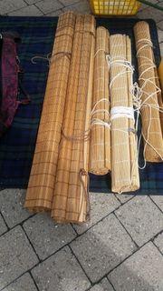 Rollos aus Bambus