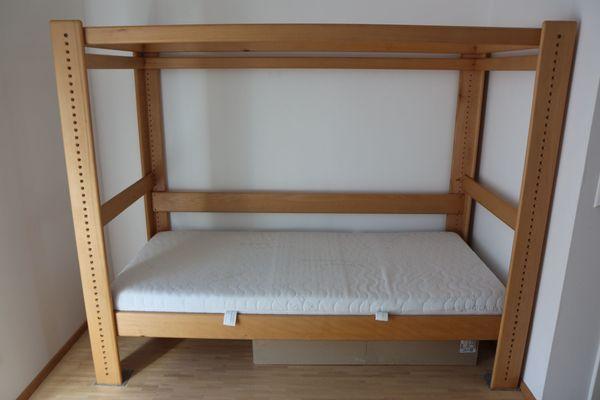 Bett Buche massiv - Kinderbett Hochbett
