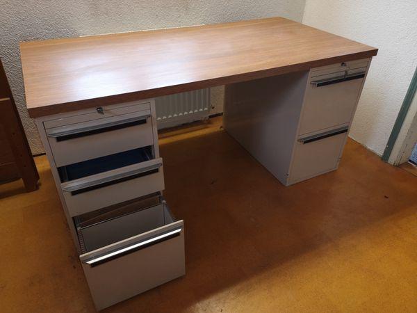 Schreibtisch Arbeitstisch mit massiver Tischplatte