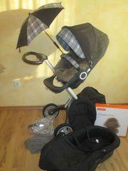 Stokke Xplory mit Lammfell Babywanne