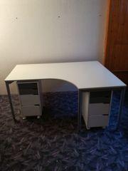 Schreibtisch mit 2 Rollcontainer
