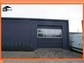 Büros, Gewerbeflächen - isolierte Stahlhalle Produktionshalle Werkstatthalle