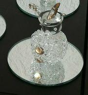 Schneemann Figur aus Glas auf