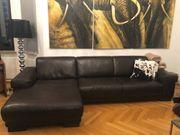 Echtleder Couch zu verkaufen