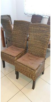 Stühle Rattan 6 Stk