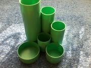 Stiftebox - Stiftebehälter - Kunststoff - grün - runde