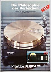 Micro Seiki Prospekt Programm 1983