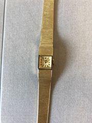 Damenuhr massiv Gold 585er 23g
