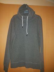 Hoodie Sweatshirt mit Schalkragen von