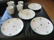 Gmundner Keramik Geschirr Dekor Streublume