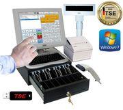 Einzelhandel Kassensystem Scanner Geldlade Kundenanzeige
