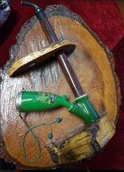 Alte Tabakpfeife Jägerpfeife mit Porzellankopf