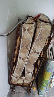 Gästebett klappbar mit Matratze und