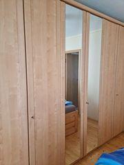 Kleiderschrank Birkefurnier mit Spiegeltüren