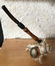 Holzpfeife Muschel Antik