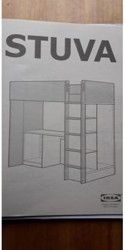 Hochbett Kombimöbel mit Schreibtisch und
