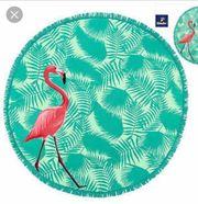Strand- Badetuch rund Flamingo Tchibo