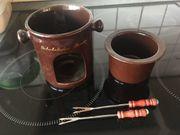 Schoko Fondue Keramik spülmaschinengeeignet
