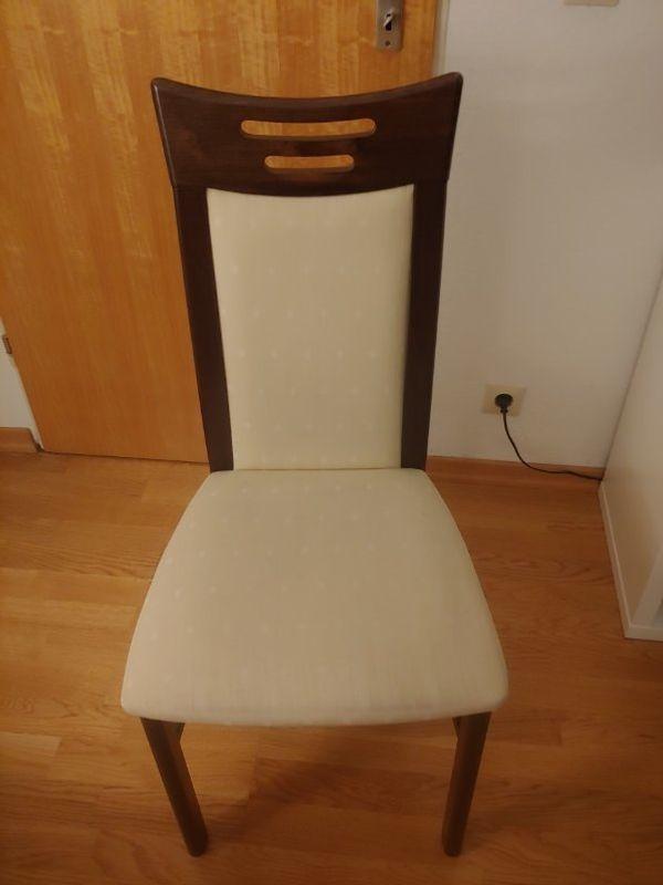 6 Esstischstühle Stühle Stoff und
