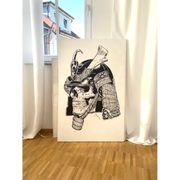 abstraktes Samurai Totenschädel auf einem