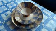 Bavaria Elfenb Porzellan Sammler-Service Tasse
