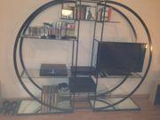 Designerregal metall schwarz mit Glasböden