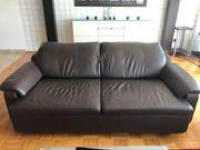 Leder-Couch von W Schillig
