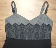 Schwarz-graues Kleid Gr 38 UNGETRAGEN