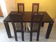 Esstisch 150x80cm mit 4 Stühlen