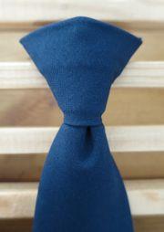 2 neue Clip-Krawatten dunkelblau einfarbig