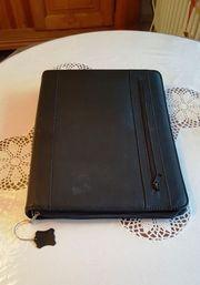 Leder - Schreibmappe mit integriertem Rechner