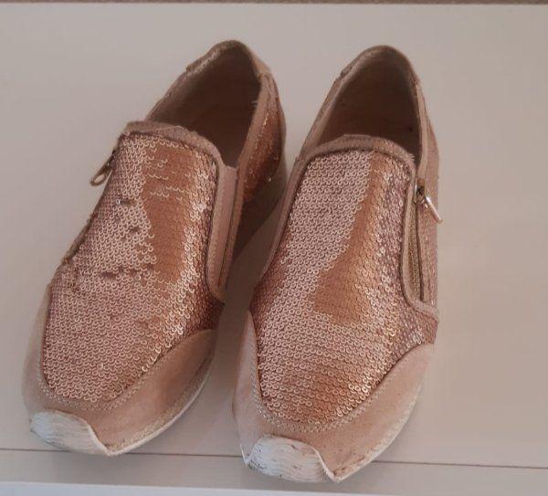Schuhe Gr 37 Rose goldton