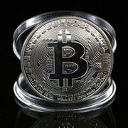 Schöne Bitcoin Sammler Medaille versilberte