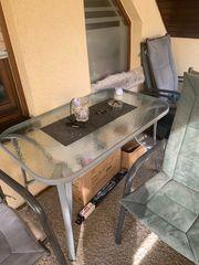 BILLIGER Balkon Tisch 4 Stühle
