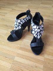 High Heels mit Strass schwarz
