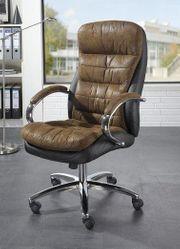 Bürostuhl Chefsessel Drehstuhl Schreibtischstuhl braun