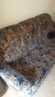Sofa zum Ausziehen mit Sessel