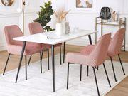 Esszimmerstuhl rosa Cord 2er Set