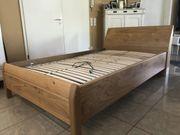 hochwertige Schlafzimmermöbel Echtholzfurnier Wildeiche - Bett