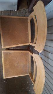 2 Holzstühle unbehandelt ca 82cm