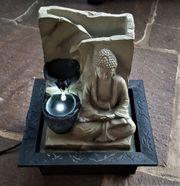 Buddha Zimmer Garten Springbrunnen Kaskaden