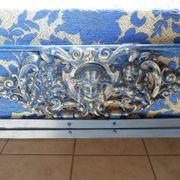 Antikes Eisenbett - Engel - restauriert
